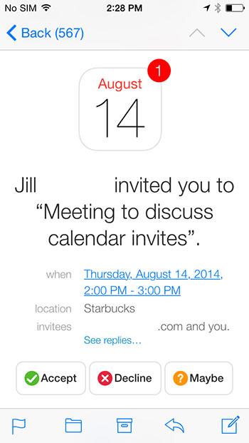 Invite options