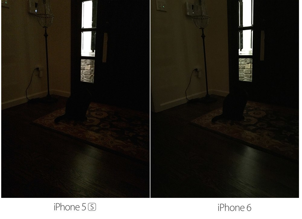 iPhone 6 vs iPhone 5s dark