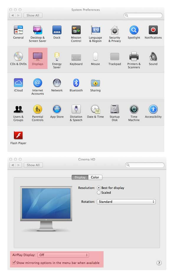 Enable AirPlay menu