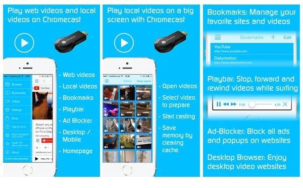 Photos and videos for Chromecast