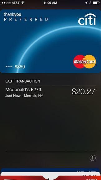 Previous transactions