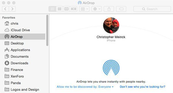 airdrop from Mac