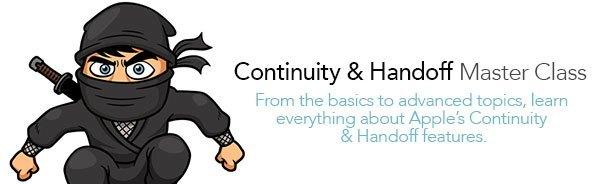 Continuity Handoff guide