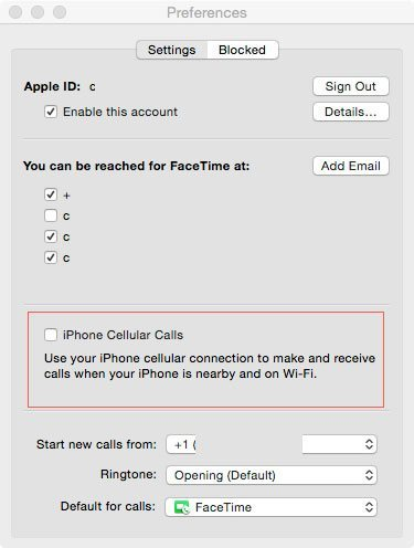 iPhone cellular off Mac