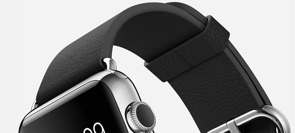 Apple Watch black buckle