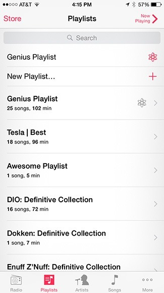 Genius playlists