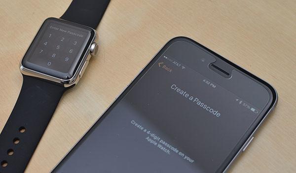 Create a passcode Apple Watch