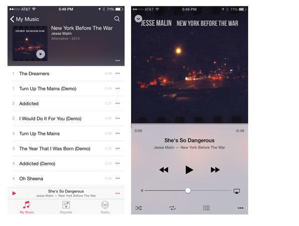 iOS 9 music app