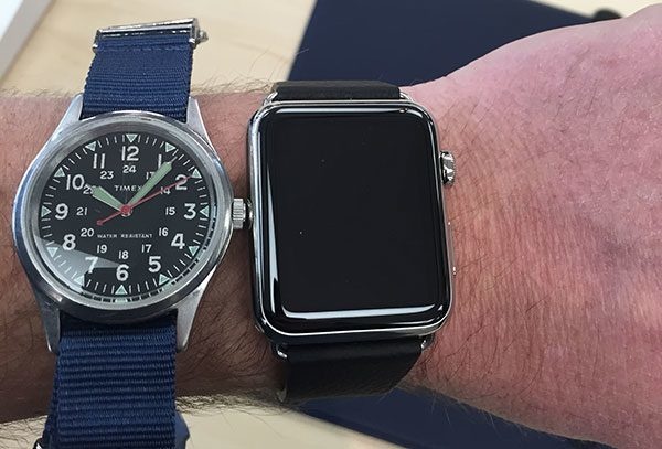 J.Crew Timex vs 42mm Apple Watch