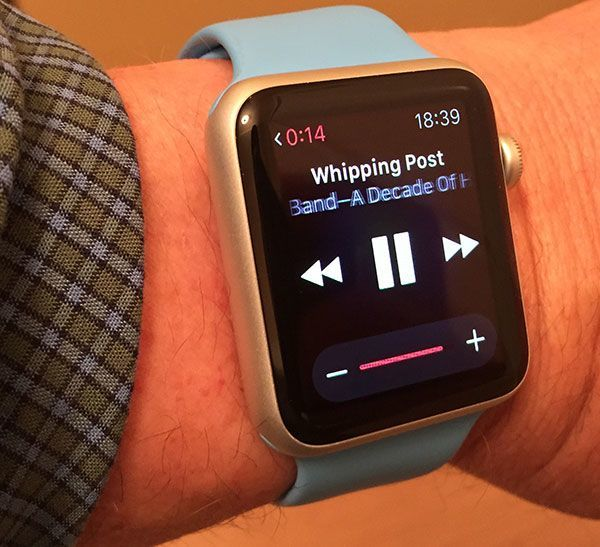 Music app on Apple Watch