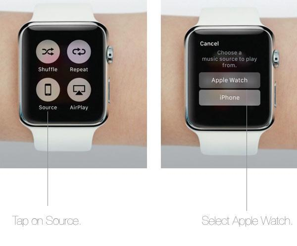 Store playlists on Apple Watch