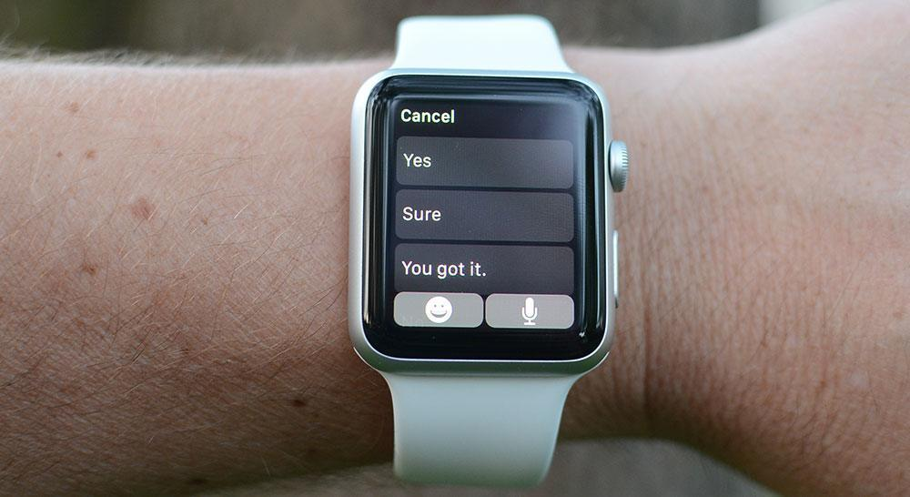 Text messaging on Apple Watch