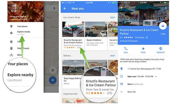Google Maps POIs
