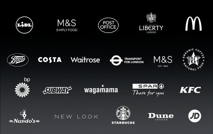 UK retailers supporting ApplePay